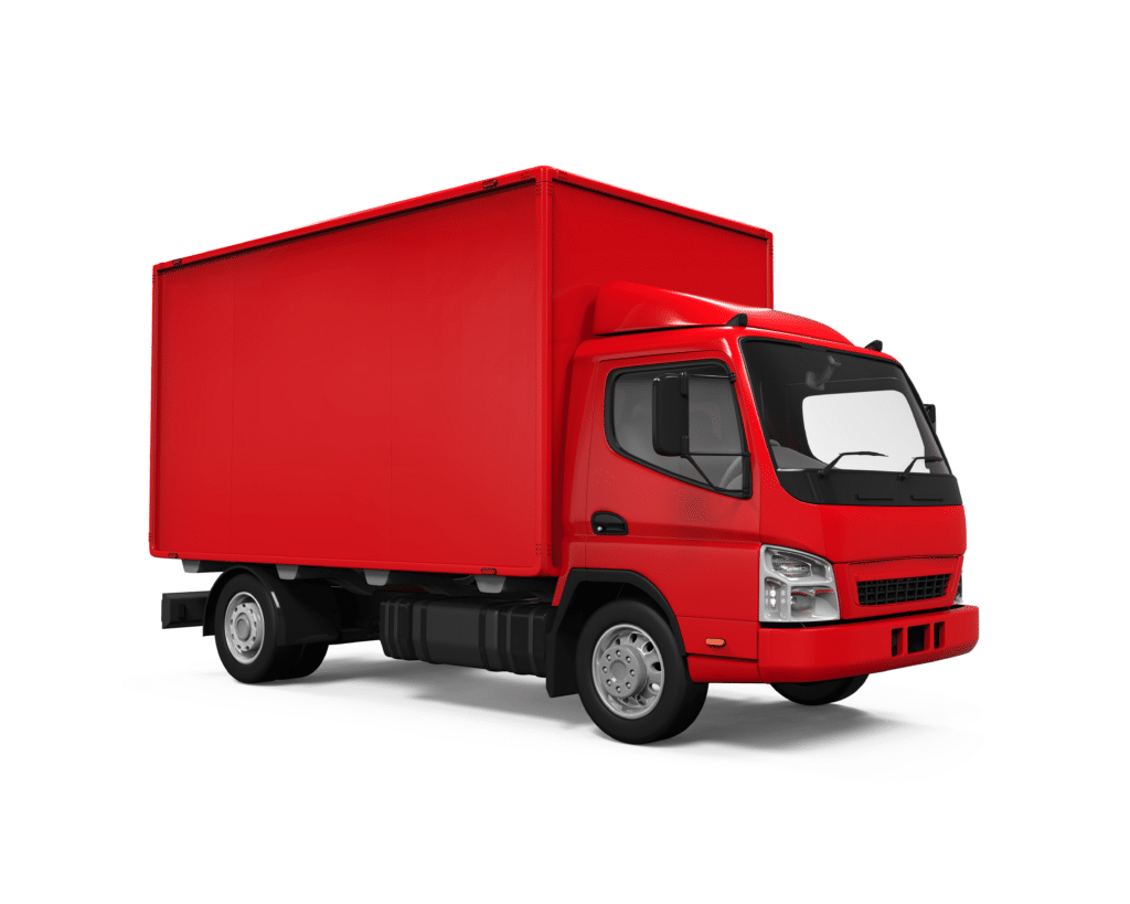 Image of a red moving van