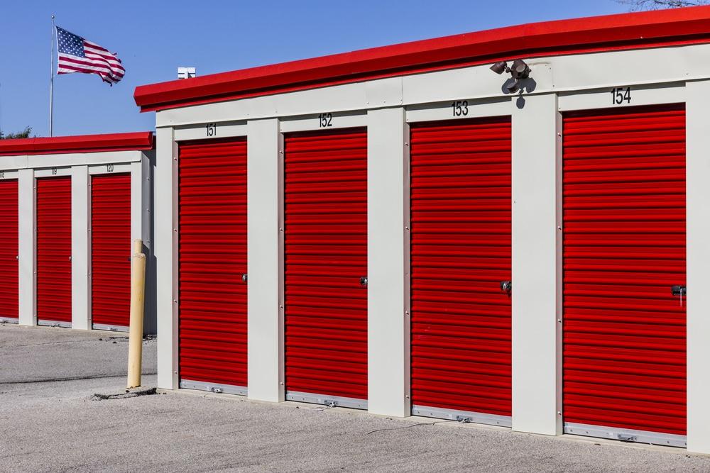 Image of closed storage units
